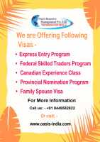 Migrate to Canada through various Visas with Oasis Resource Management